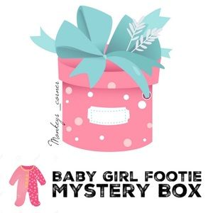 Other - MYSTERY BOX⚡️4 Pcs Baby Girl Onesie Fleece Footie